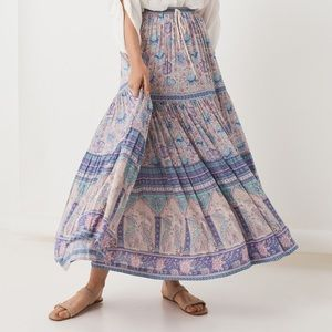 Spell Poinciana maxi skirt